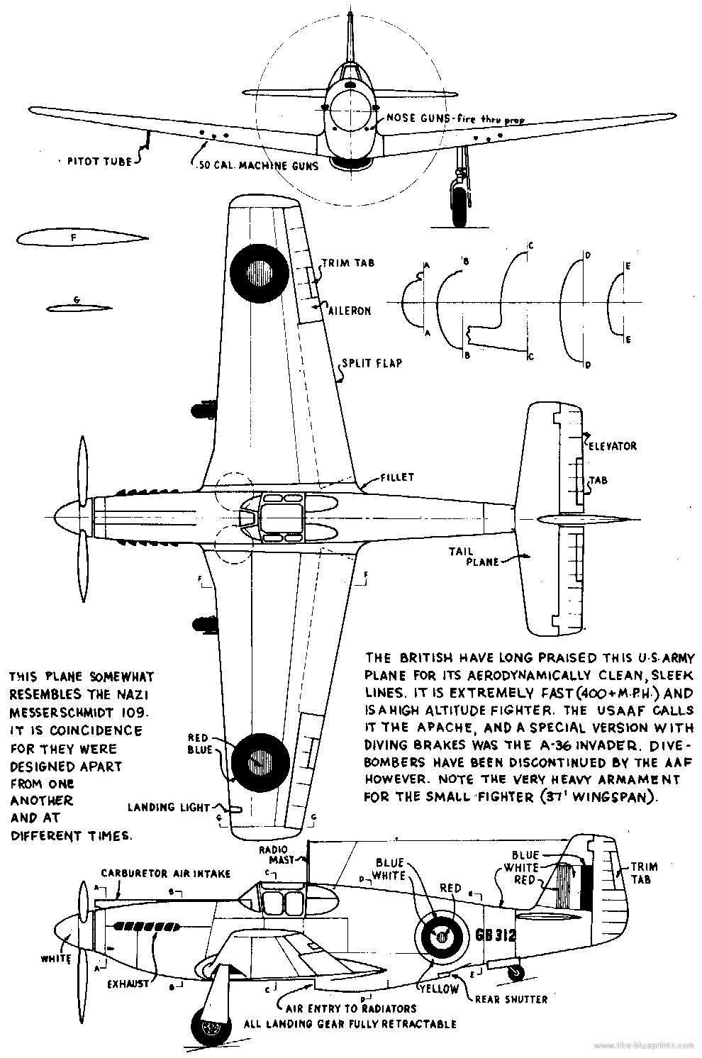 North american p 51 mustang technical specs history and pictures north american p 51 mustang blueprints malvernweather Gallery