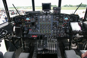 Cockpit of Lockheed C-130 Hercules