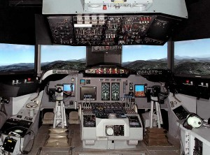 Cockpit of Lockheed P-3 Orion
