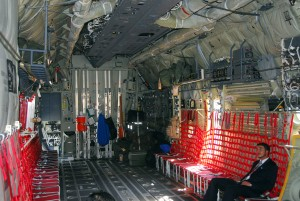 Inside of Lockheed C-130 Hercules