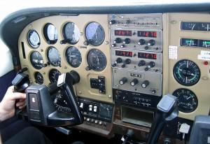 Cessna 205 Cockpit