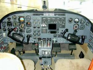 Cessna 441 Cockpit