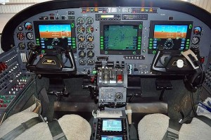 Cockpit of Cessna 441