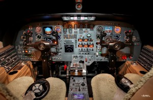 Cockpit of Cessna 560