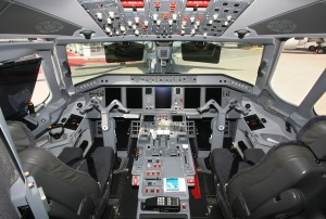 Cockpit of Embraer Lineage 1000