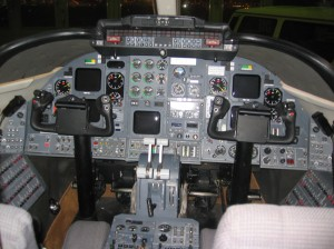 Cockpit of Learjet 31