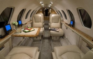 Inside of Cessna 560