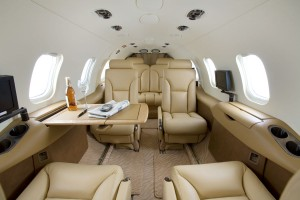 Inside of Learjet 31