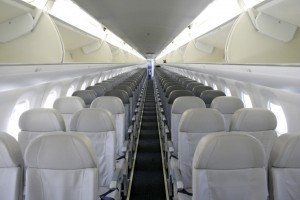 Interior of Embraer 195