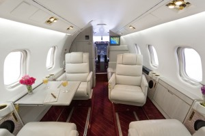 Interior of Learjet 55