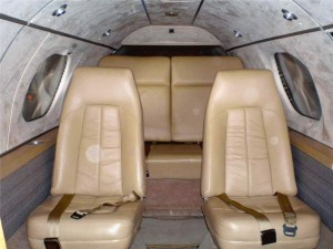 Learjet 23 Cabin
