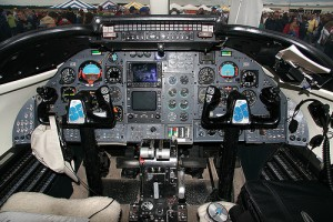 Learjet 23 Cockpit