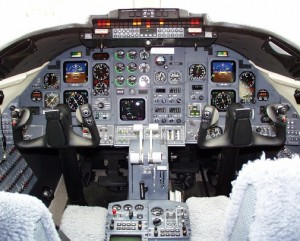 Learjet 31 Cockpit