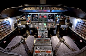 Learjet 40 Cockpit