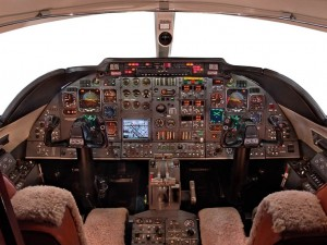 Learjet 55 Cockpit