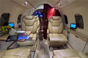 Learjet 55 Inside