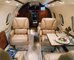 Learjet 55 Interior