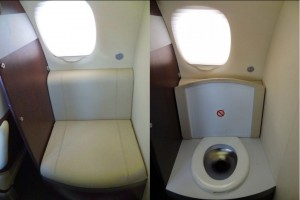 Embraer Phenom 100 Cockpit Lavatory