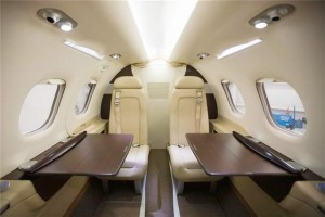 Interior of Embraer Phenom 100 Inside